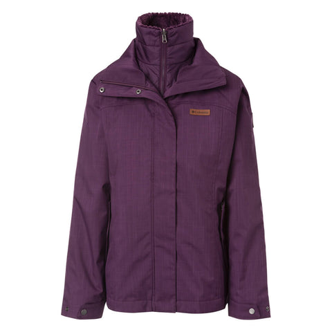 COLUMBIA WOMEN'S MARSHALL PASS INTERCHANGE JACKET BLACK CHERRY
