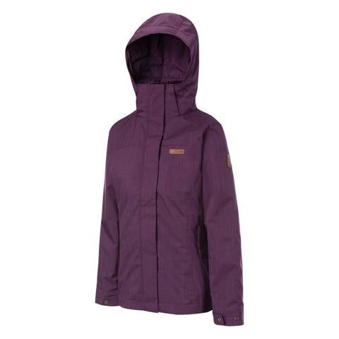 COLUMBIA WOMEN'S MARSHALL PASS INTERCHANGE JACKET BLACK CHERRY FRONT
