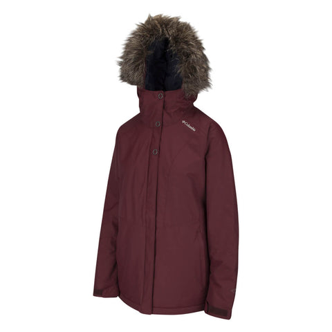 COLUMBIA WOMEN'S ICEBERG LAKE JACKET BLACK CHERRY