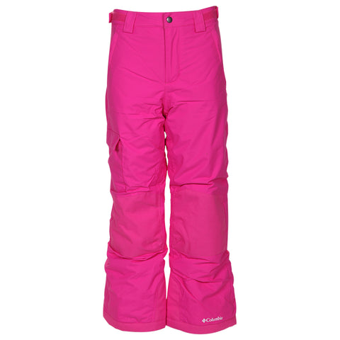 COLUMBIA GIRLS BUGABOO II OMNIHEAT OMNITECH INSULATED PANT PINK ICE