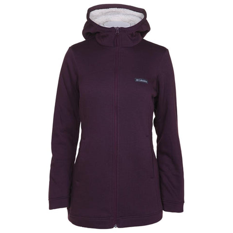 COLUMBIA WOMEN'S REEDVILLE LINED SHERPA FULL ZIP BLACK CHERRY