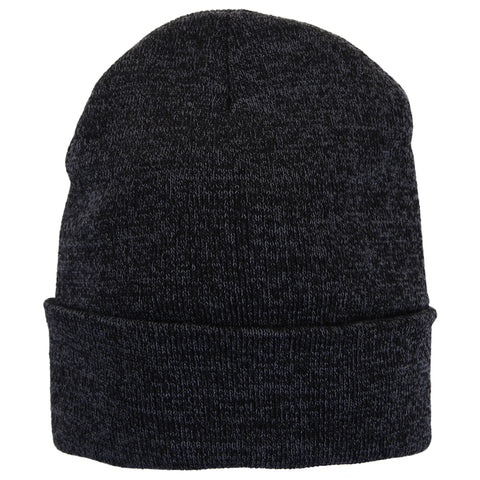 GREAT NORTHERN M SHERPA LINED BEANIE BLACK HEATHER