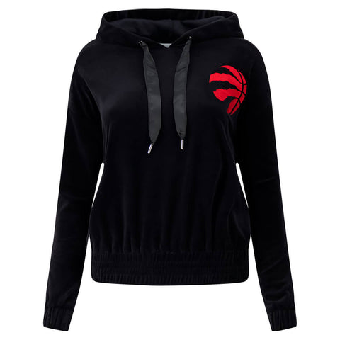 TOUCH BY ALYSSA MILANO WOMEN'S TORONTO RAPTORS HIGH RANKING VELOUR HOODY