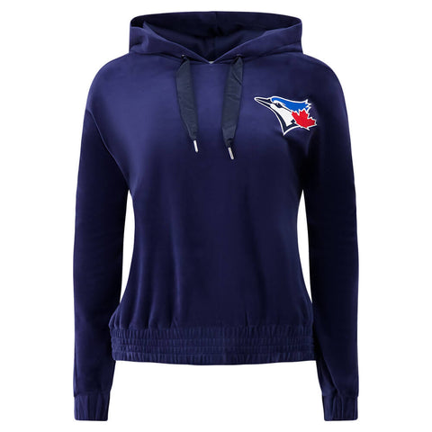 TOUCH BY ALYSSA MILANO WOMEN'S TORONTO BLUE JAYS HIGH RANKING VELOUR HOODY