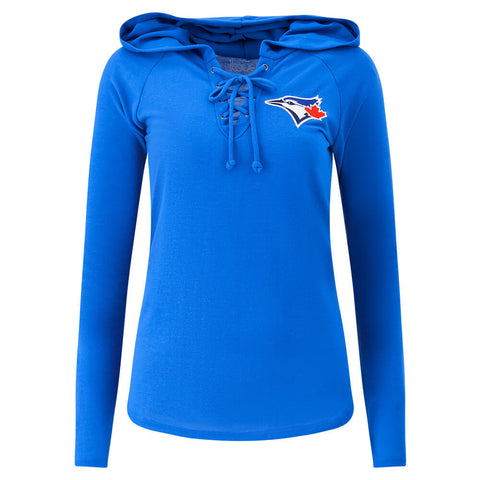 TOUCH BY ALYSSA MILANO WOMEN'S TORONTO BLUE JAYS SOARING PUCK PULLOVER HOODY