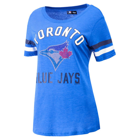 GIII 4HER WOMEN'S TORONTO BLUE JAYS EXTRA POINT TOP