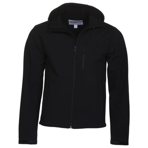 WILLIAM RAST MEN'S RIP STOP SOFT SHELL HOODY BLACK