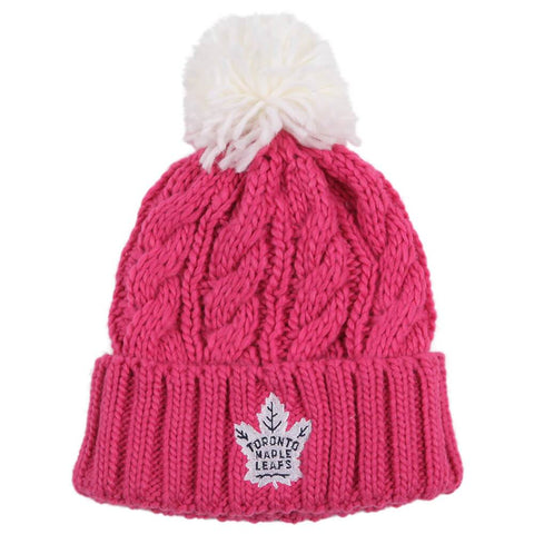 OUTERSTUFF YOUTH GIRLS TORONTO MAPLE LEAFS TOQUE PINK