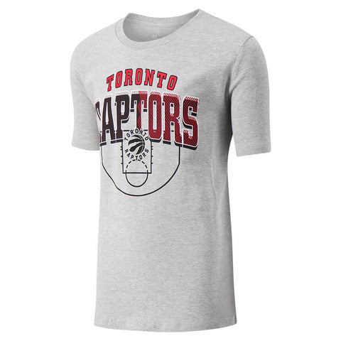 OUTERSTUFF YOUTH TORONTO RAPTORS TEAM COURT SHORT SLEEVE TOP GREY