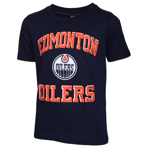 OUTERSTUFF YOUTH EDMONTON OILERS POWER SHORT SLEEVE TOP