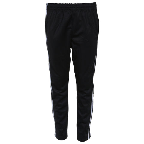 BURNSIDE BOY'S OPEN HEM TRICOT PANT BLACK
