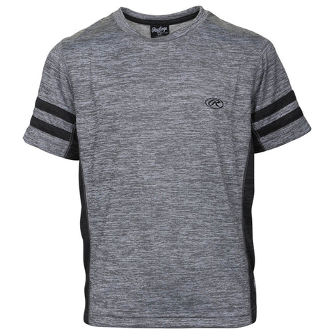 RAWLINGS BOYS' JERSEY ATHLETIC TEE LIGHT GREY