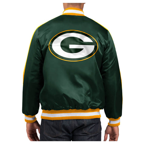 STARTER MEN'S GREEN BAY PACKERS O-LINE VARSITY SATIN JACKET