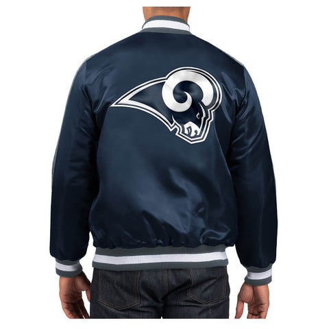 STARTER MEN'S LOS ANGELES RAMS O-LINE VARSITY SATIN JACKET