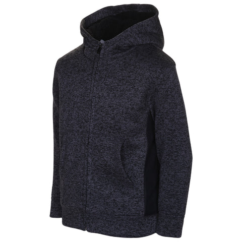 BURNSIDE BOY'S SHERPA HOODED JACKET BLACK