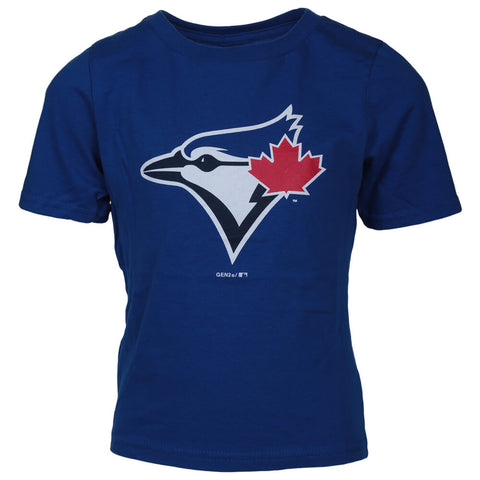 OUTERSTUFF BOYS 4-7 TORONTO BLUE JAYS PRIMARY LOGO SHORT SLEEVE TOP BLUE