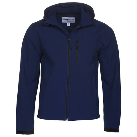 WILLIAM RAST MEN'S RIP STOP SOFT SHELL HOODY ESTATE BLUE