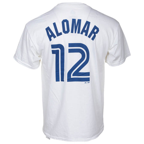 MAJESTIC MEN'S TORONTO BLUE JAYS ALOMAR COOPERSTOWN SHORT SLEEVE TOP WHITE