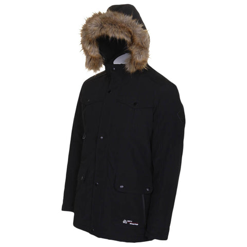 MISTY MOUNTAIN MEN'S THRUSH INSULATED PARKA BLACK ANGLE