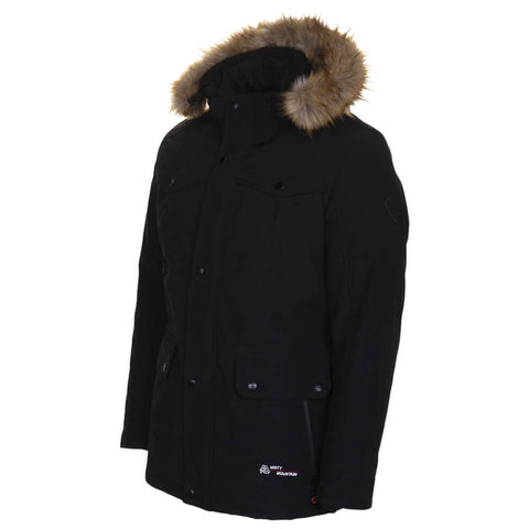 MISTY MOUNTAIN MEN'S THRUSH INSULATED PARKA BLACK