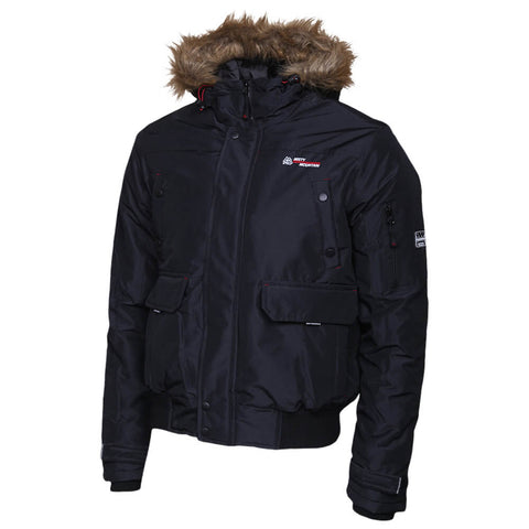 MISTY MOUNTAIN MEN'S CROSSFIRE INSULATED BOMBER BLACK