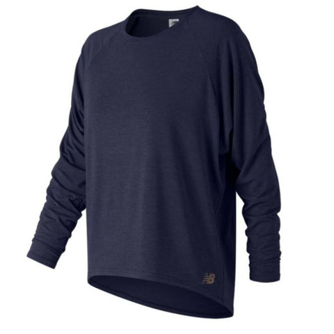 NEW BALANCE WOMENS' RELEASE OPEN BACK LONG SLEEVE PIGMENT
