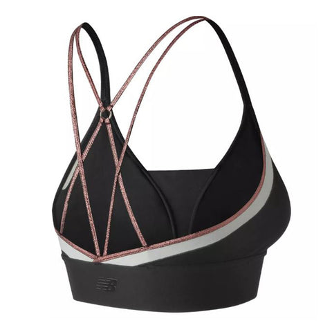 NEW BALANCE WOMENS' REVITALIZE CROP BRA BLACK