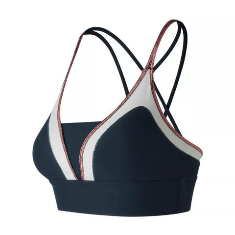NEW BALANCE WOMENS' REVITALIZE CROP BRA GALAXY
