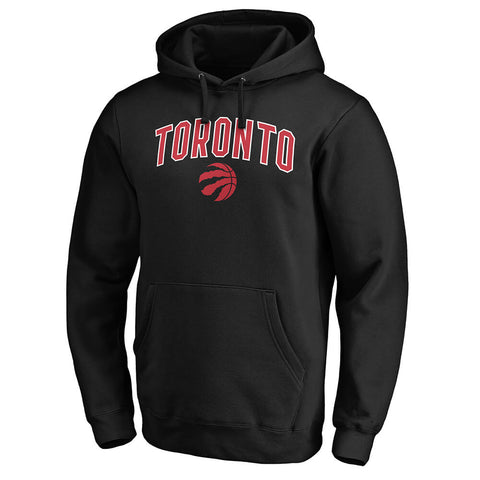 FANATICS MEN'S TORONTO RAPTORS ENGAGE ARCH HOODY BLACK