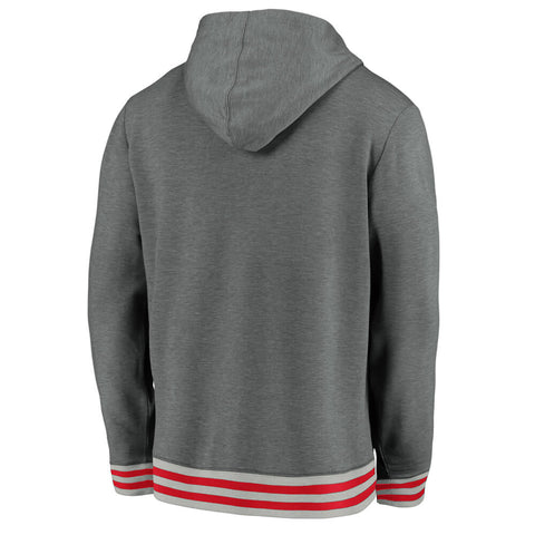 FANATICS MEN'S TORONTO RAPTORS VINTAGE UPPERCLASSMAN HOODY GREY/STEEL/RED