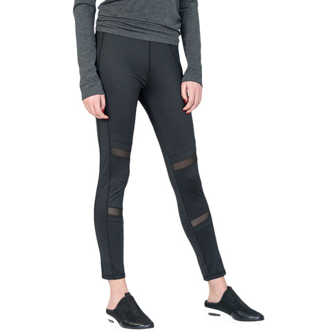 ELLE SPORTSWEAR WOMEN'S CASUAL TIGHT BLACK