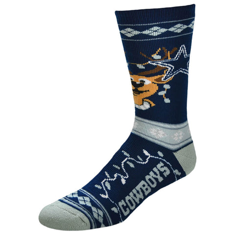 FBF ORIGINALS MEN'S DALLAS COWBOYS NFL XMAS SWEATER STRIPE SOCK