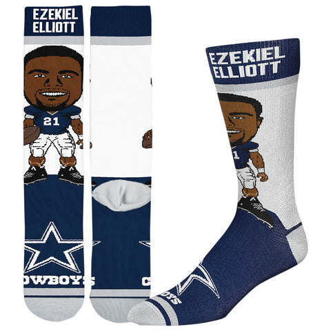 FBF ORIGINALS MEN'S DALLAS COWBOYS NFL # PLAYER SOCKS ELLIOT