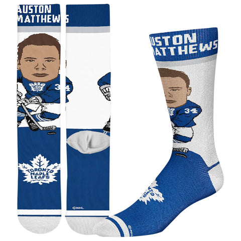 FBF ORIGINALS MEN'S TORONTO MAPLE LEAFS NHL # PLAYER SOCKS MATTHEWS