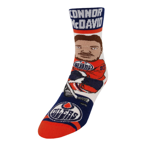 FBF ORIGINALS YOUTH EDMONTON OILERS  NHL # PLAYER SOCKS MCDAVID