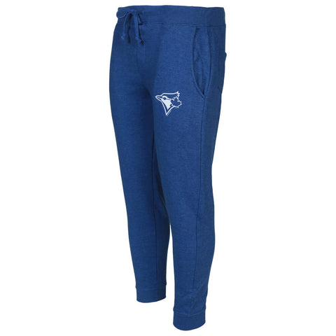 BULLETIN ATHLETIC MEN'S TORONTO BLUE JAYS ONE COLOUR WHITE LOGO TERRY JOGGER HEATHER ROYAL
