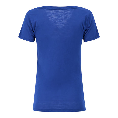 BULLETIN ATHLETIC WOMEN'S TORONTO BLUE JAYS REVERSAL SLUB DEEP V NECK TOP ROYAL
