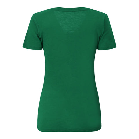 BULLETIN ATHLETIC WOMEN'S TORONTO BLUE JAYS LEFT CHEST DISTRESSED LOGO SLUB DEEP V NECK TOP GREEN