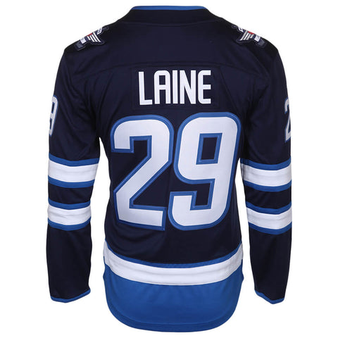FANATICS MEN'S WINNIPEG JETS LAINE HOME JERSEY BLUE NUMBERS