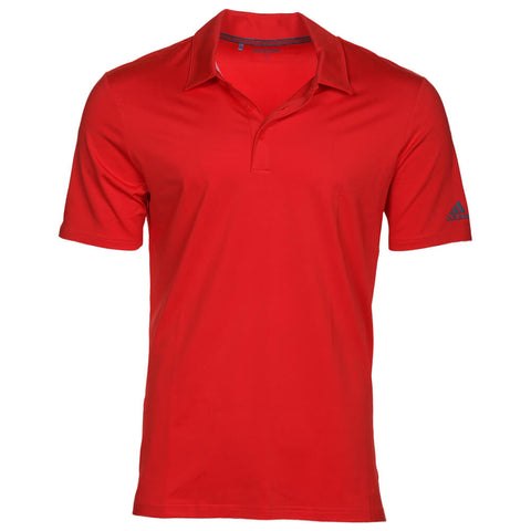 ADIDAS MEN'S ULTIMATE 365 SOLID GOLF SHIRT RED