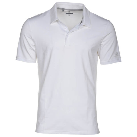 ADIDAS MEN'S ULTIMATE 365 SOLID GOLF SHIRT WHITE