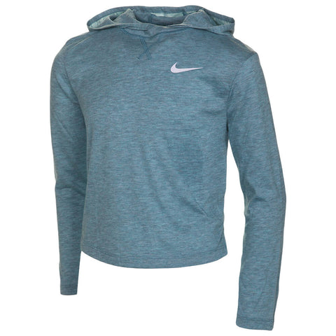 NIKE GIRL'S TROPHY DRY LONG SLEEVE MINERAL TEAL
