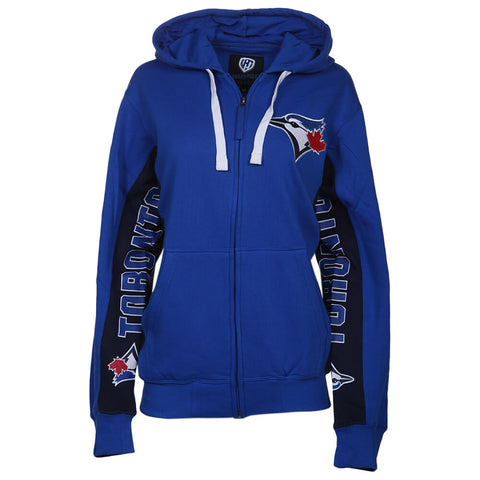 HANDS HIGH MEN'S TORONTO BLUE JAYS ON DECK FULL ZIP HOODY