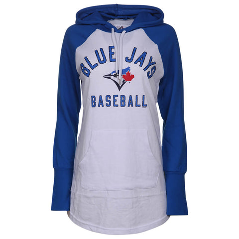 GIII 4HER WOMEN'S TORONTO BLUE JAYS ALL DIVISION TUNIC TOP WHITE/BLUE
