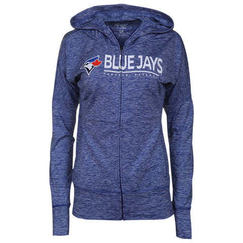 GIII 4HER WOMEN'S  TORONTO BLUE JAYS RECEIVER FULL ZIP HOODY BLUE