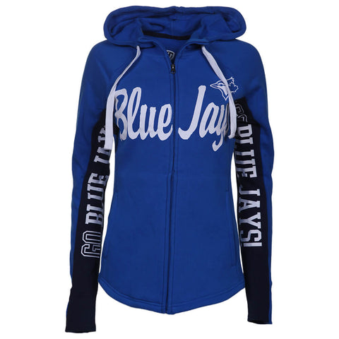 HANDS HIGH WOMEN'S TORONTO BLUE JAYS RALLY FULL ZIP HOODY BLUE