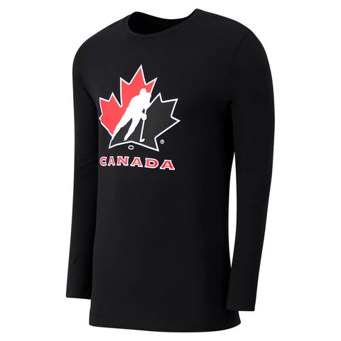 GERTEX MEN'S TEAM CANADA LONG SLEEVE LOGO TOP BLACK
