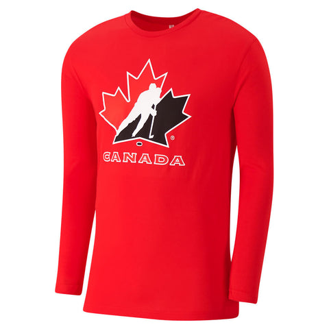 GERTEX MEN'S TEAM CANADA LONG SLEEVE LOGO TOP RED