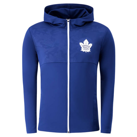 FANATICS MEN'S TORONTO MAPLE LEAFS DEFENDER MISSION FULL ZIP HOODY BLUE