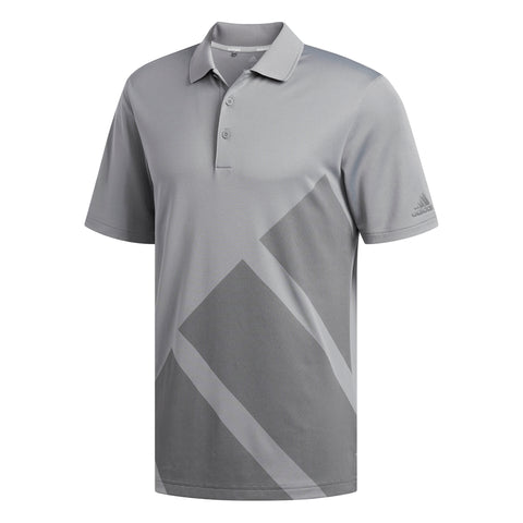 ADIDAS MEN'S BOLD 3 STRIPES POLO GREY HEATHERED
